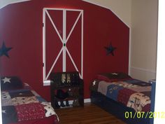 This is my boys room.  They wanted a country theme... It's one of my favorite rooms in the house.