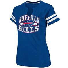 Buffalo Bills Ladies Go For Two II T-Shirt - Royal Blue