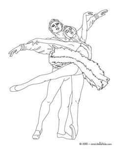 ballet coupe coloring page