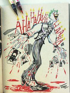 Joker Joker, Sketches, Illustrations, Art, Drawings, Art Background, Illustration, Kunst, The Joker