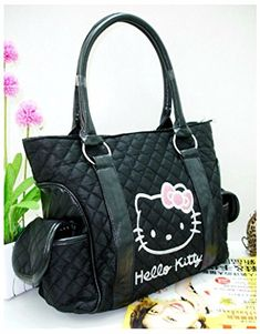 b5aa5448ba65 Amazon.com  New Hellokitty Handbag Shoulder bag Purse- BLACK  Home   Kitchen