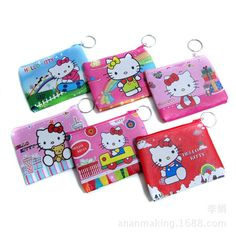 Souvenirs baby shower Hello Kitty purse coin wallet happy birthday party  return gifts