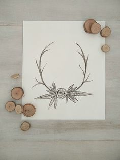 Do you love anything deer?? Then download this watercolour antler printable for free and decorate your home for fall or the upcoming holidays!