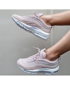 485ff4c37e9a Nike Air Max 97 Trainers In Pink Snakeskin Pink Nike Shoes