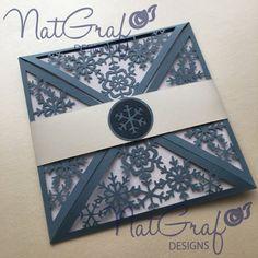 Snowflake Card 2 por NatGrafDesigns en Etsy