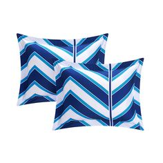 Amaretto Chevron and Geometric Printed Reversible Comforter Set 8 Piece (Twin XL) Navy (Blue) - Chic Home Design Comforter Sets, College Bedding Sets, Chevron Patterns, Fleece Throw, Bed Sizes, Twin Xl, 1 Piece, Comforters