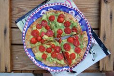 bigBANG studio: toasted pita with olive oil, avocado and tomato -- perfect Saturday afternoon snack