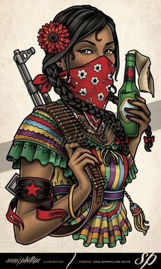 zapatista woman tattoo
