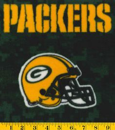 Green Bay Packers NFL Digital Fleece Fabricby Fabric Traditions