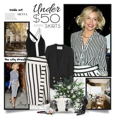"""Skirts Under $50"" by thewondersoffashion ❤ liked on Polyvore featuring Prada, La Ligne, Lanvin, Topshop, Serpui, Tom Daxon, Dolce&Gabbana and NARS Cosmetics"