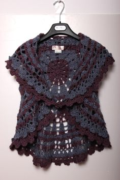 Autumn winter vintage vintage handmade crocheted crochet cape turn-down collar sweater