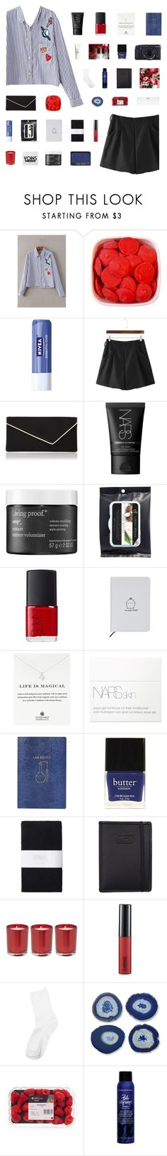 """""""YOINS // EMBRASSE-MOI"""" by gintare-13 ❤ liked on Polyvore featuring Nivea, L.K.Bennett, NARS Cosmetics, Living Proof, Dogeared, Topshop, Butter London, Toast, Fujifilm and Nava"""