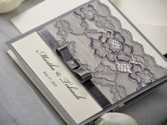 WEDDING INVITATIONS lace #4lovepolkadots.com#