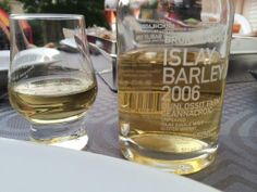 Apéritif in the garden this evening with leftovers from @TheWhiskyWire #bruichladdich #Whisky