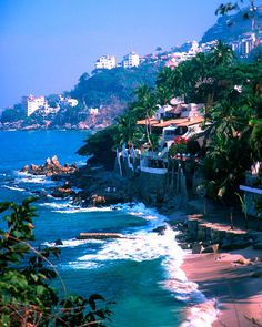 Banderas Bay, Puerto Vallarta, Mexico. Oddly enough I am repining this photo because I have stayed there !!!! Gorgeous condo, where our neighbor was Robin Williams.