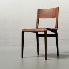 Erich Menzel 1951, Furnierstuhl 50642, DDR Schichtholzstuhl VEB Hellerau 50er in Antiquitäten & Kunst, Design & Stil, 1950-1959, Mobiliar & Interieur | eBay