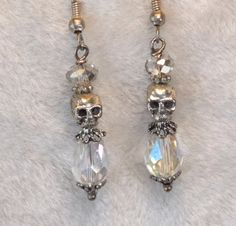Silver Skull Earrings. Found my bridal earrings!!!