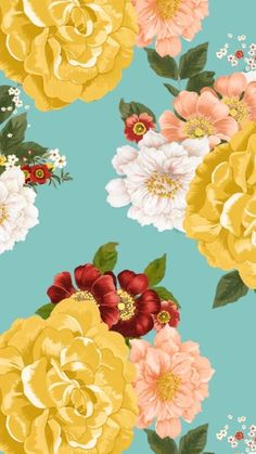Backgrounds Girly, Wallpaper Backgrounds, Illustrations, Illustration Art, Best Iphone Wallpapers, Arte Floral, Cellphone Wallpaper, Vintage Flowers, Lovers Art