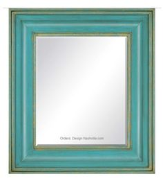 Sublime Turquoise and Green Mirror DesignNashville.com Coastal Living Collection