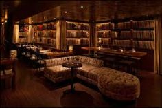 Chambers Lounge in SF with vinyl on the walls--the feeling we want to create in the living room