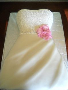 Wedding Dress-Wedding Shower Cake by SugaRush Desserts in Elkhart, Indiana