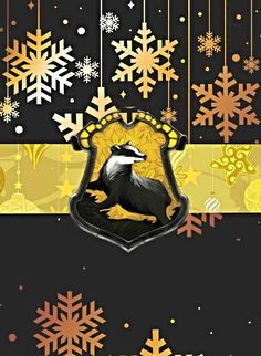 House Wallpapers: Hufflepuff with Winter snowflakes - Harry Potter http://manof2moro.tumblr.com/post/70916100365