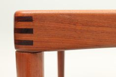 Outstanding detail from a Henry W. Klein dining table in teak manufactured by Bramin Møbler, Denmark. www.reModern.dk