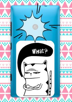 """Naklejka na telefon """"What Cat""""/ Sticker on the phone """"What Cat"""""""