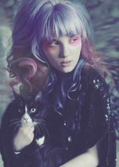 Pastel Goth Girl † Photo by Kim Akrigg † #pastelgoth #pastel #pastelcolors #colored #dyed #hair #hairstyle #portrait #female #model #KimAkrigg #photography