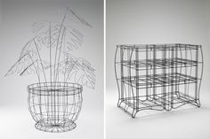 'wireframe collection' by noiz architects : 'digitized' furniture for the lobby of the museum of national taipei university of education
