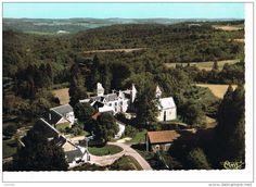 Frankreich - st priest les fougères vue aérienne le château d'oche colonie de vacances du ministère de la production industrielle