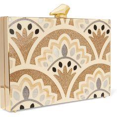 Kotur Simone Merrick glittered Perspex box clutch