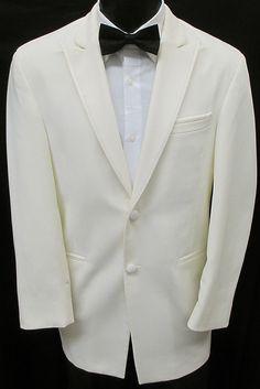 Vest 46XL Black La Strada Two Button Tuxedo with Pants /& Tie Wedding Prom 46XL