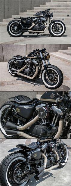 aftercycles | harley-davidson sportster forty-eight | custom bobber  #harleydavidsonbobbersblack #harleydavidsonsportsterfortyeight