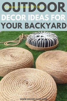 DIY Outdoor Decor To Spruce Up Your Backyard. Quick and easy DIY outdoor decor ideas to spruce up your yard. Get your yard ready for summer with these DIY outdoor decor ideas. These DIY projects will revamp your backyard and leave your neighbors jealous. Diy Jardin, Diy Terrasse, Diy Outdoor Furniture, Pallet Furniture, Furniture Projects, Refinished Patio Furniture, Furniture Design, Patio Furniture Cushions, Furniture Refinishing