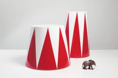 circus tables  Lacquered Wood and Resin