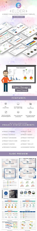 advertisement, business, corporate, creative, diagram, elegant - project status report template