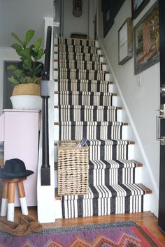 from our Mistakes when installing a Stair Runner How to avoid mistakes while installing a stair running with Mistake Mistake(s) may refer to: Basement Apartment Decor, Basement Office, Basement Stairs, Staircase Runner, Carpet Runner On Stairs, Stair Carpet, Runners For Stairs, Striped Carpet Stairs, Hallway Carpet