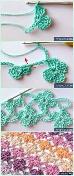 Crochet Lattice Flower Stitch Free Pattern - Crochet Flower Stitch Free Patterns by leta