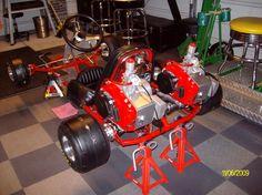 Vintage Go Kart Rupp Dual West bend engines                                                                                                                                                                                 Más