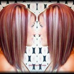 Hair Color Trends 2018 – Highlights : Red hair with blonde highlights Haarfarbentrends Highlights: Rotes Haar mit blonden Highlights Red Hair With Blonde Highlights, Red Blonde Hair, Chunky Highlights, Blonde Streaks, Caramel Highlights, Color Highlights, Brown Hair, Black Hair, Love Hair