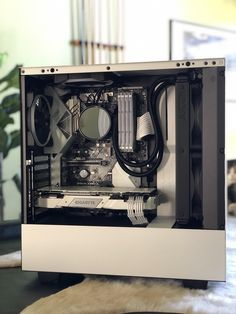 For more pictures visit our website Gaming Pc Build, Computer Build, Gaming Pcs, Gaming Room Setup, Pc Setup, Gamer Setup, Computer Desk Setup, Computer Case, Gaming Computer