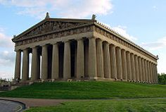 Nashville's parthenon. Great place to hang out. I've actually had a light saber battle with friends on the stairs here! Just watch out for the squirrels if you picnic here. They will steal your cheese puffs and fried chicken!