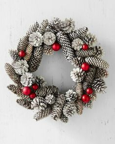 Frosty Pinecone Wreath - Garnet Hill