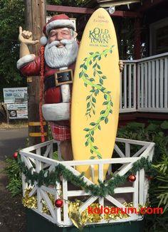 Santa has come to Kauai for Christmas.