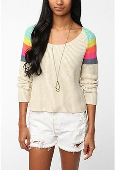 love this light sweater...bright enough for Spring!