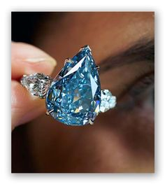 The Smithsonian is the home of the world's largest deep blue diamond. Description from jewelrytrendsandrumors.com. I searched for this on bing.com/images