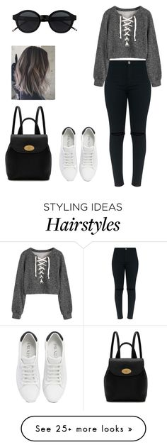 """""""grey"""" by vasicnco1d on Polyvore featuring Prada and Mulberry"""