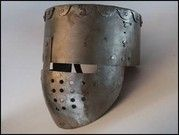 How to build an helmet around 1200. (with face plate, early great helm) Abb. 2:  Der Nachbau des Topfhelms um AD 1200