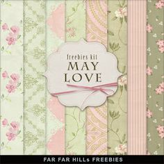 Far Far Hill: New Freebies Kit of Backgrounds - May Love
